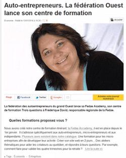 ouest-france-janvier 2016 Frédérique David